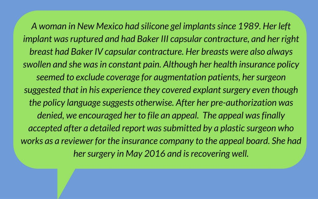 Breast Implant Removal Insurance Coverage